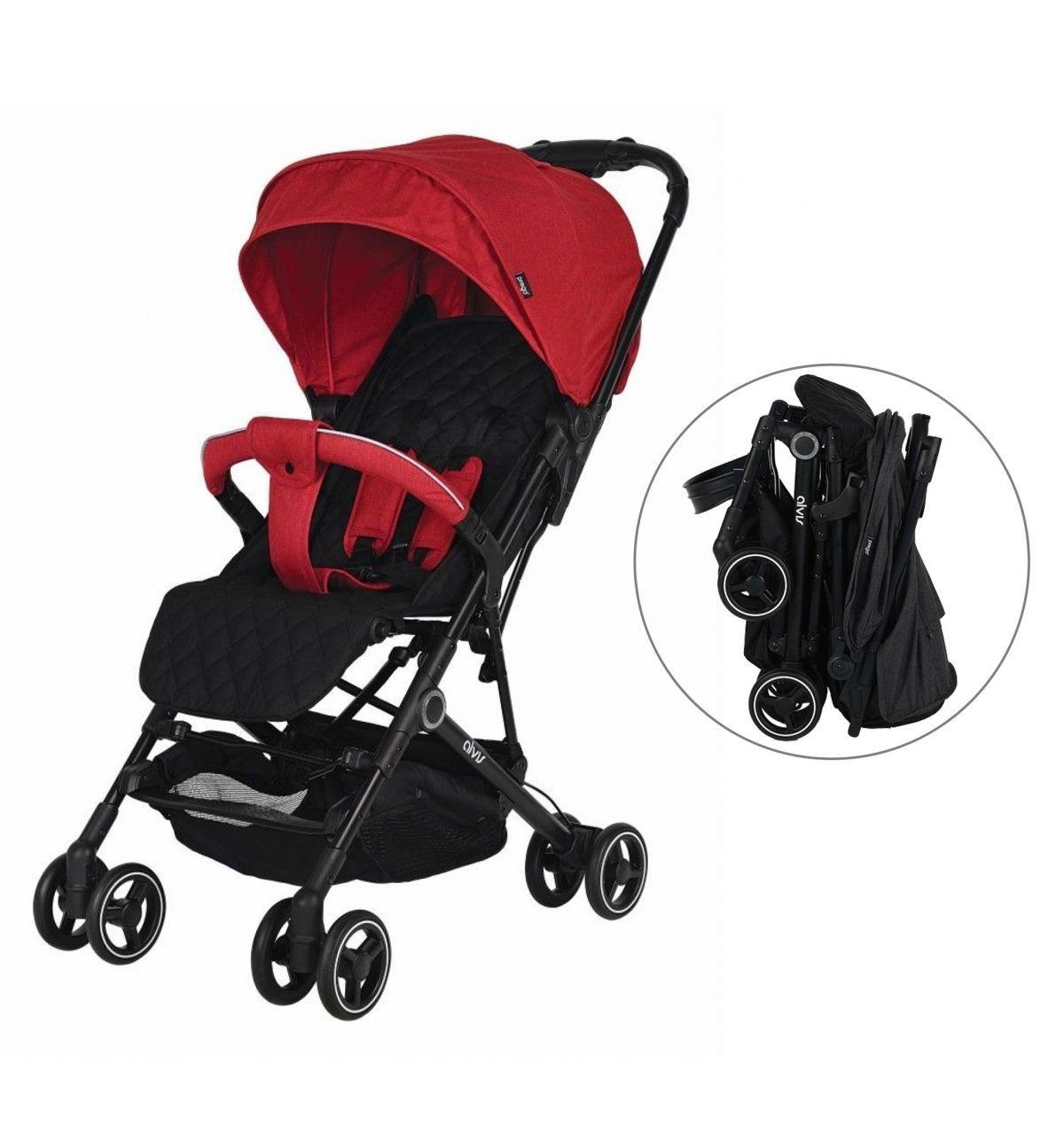 Prego 2035 Alvis Bebek Arabası Kırmızı