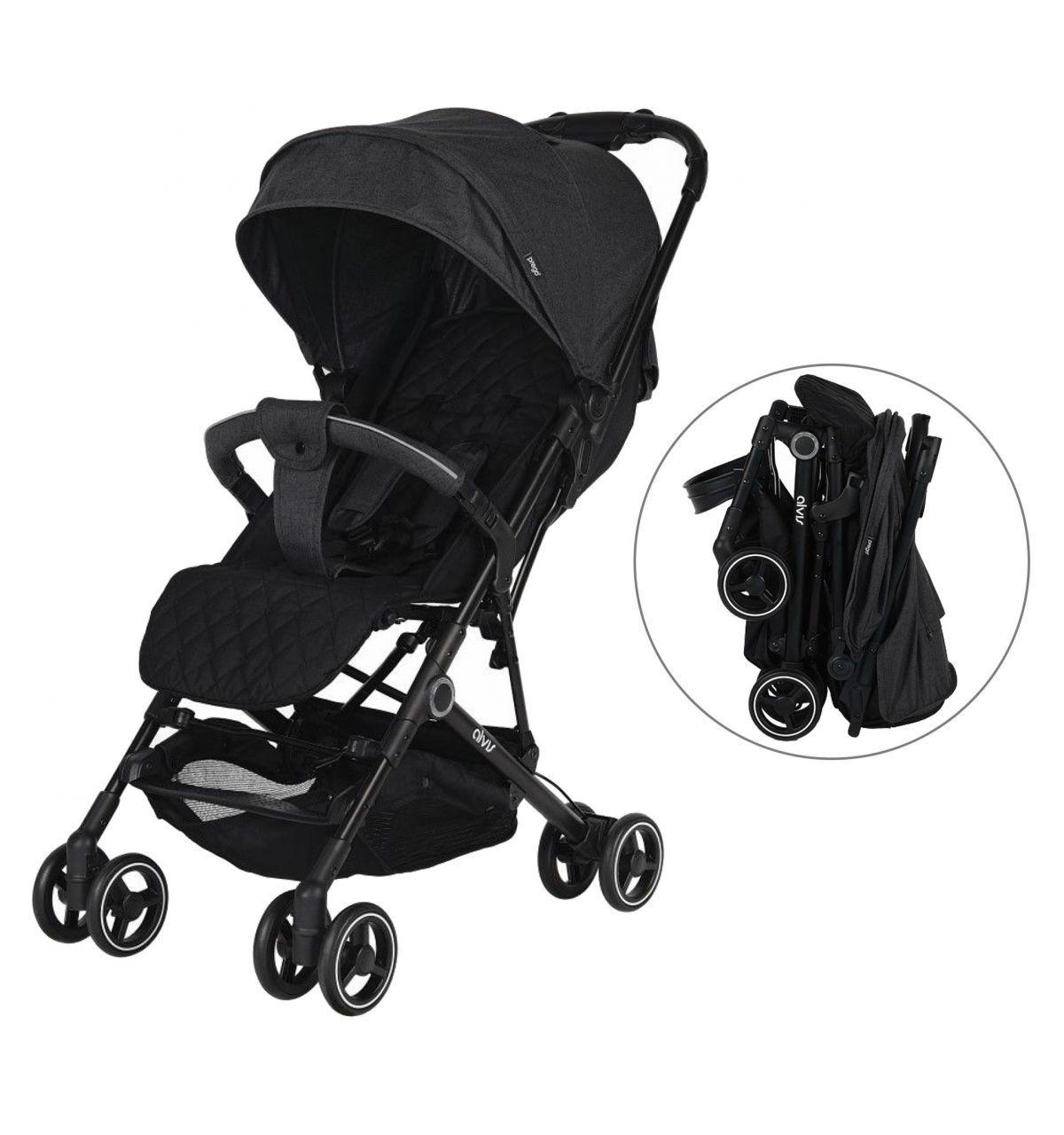 Prego 2035 Alvis Bebek Arabası Siyah