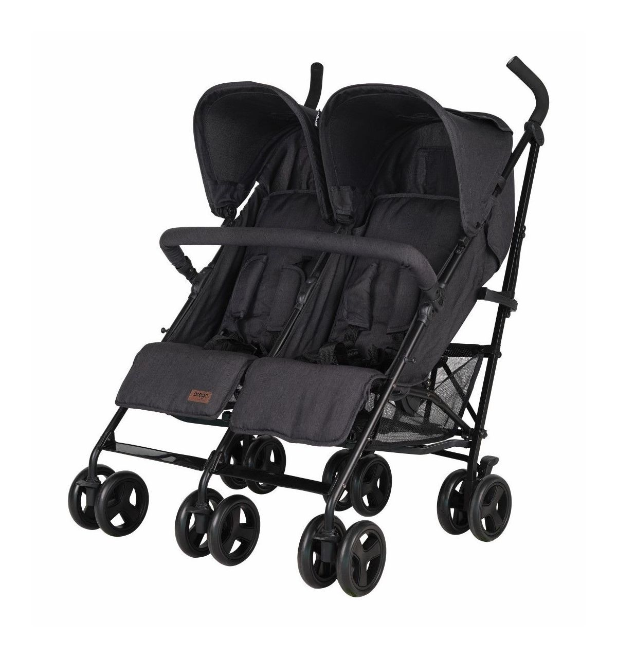 Prego 2074 Monart İkiz Bebek Arabası Gri