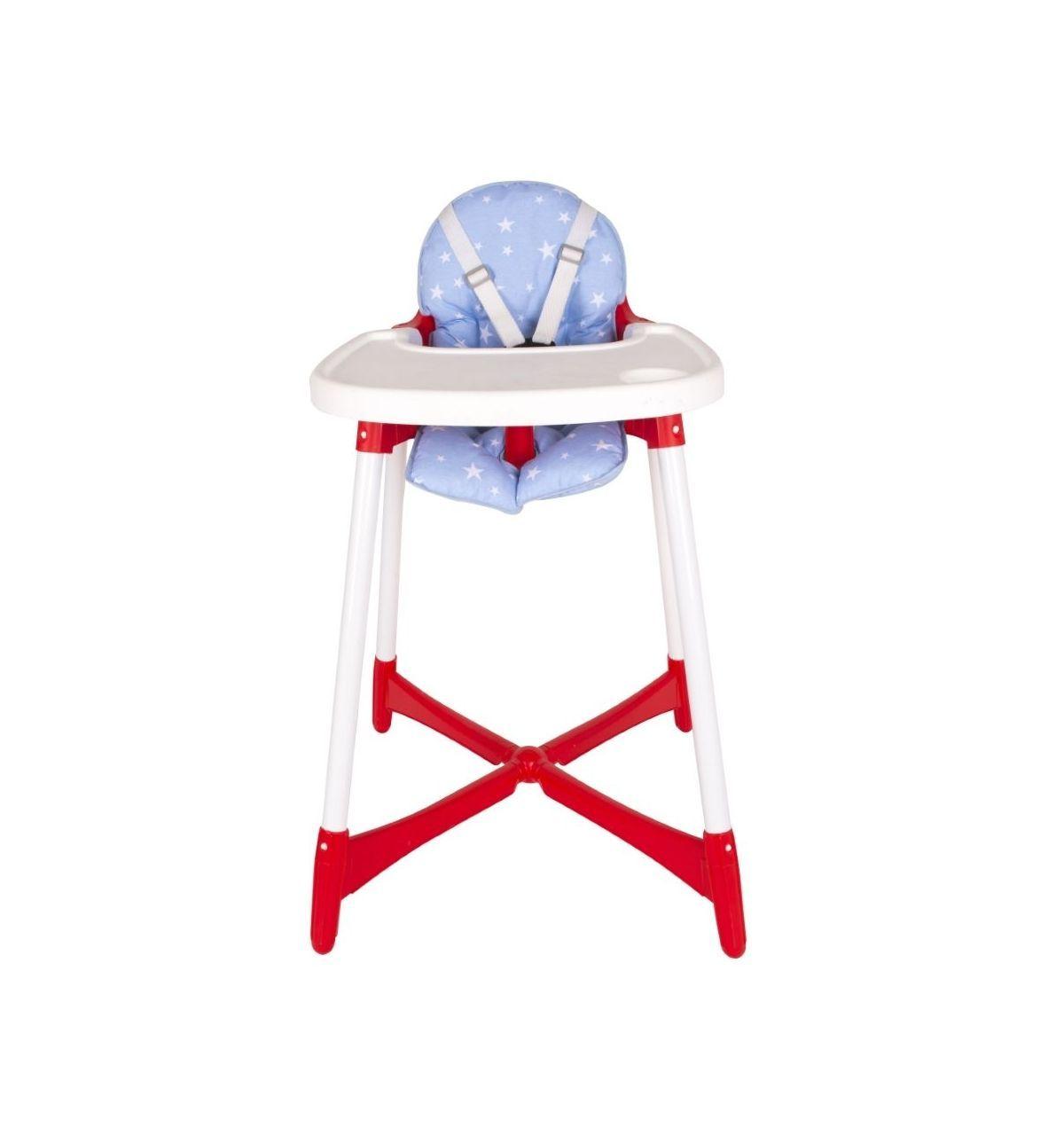 Sevi Bebe Mama Sandalyesi Minderi - Mavi Yıldız